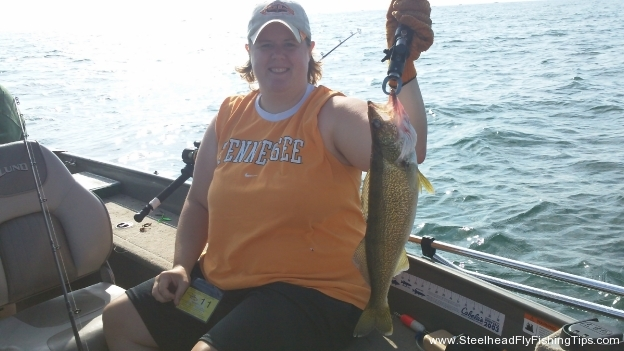 Amy Walleye Fishing 2011